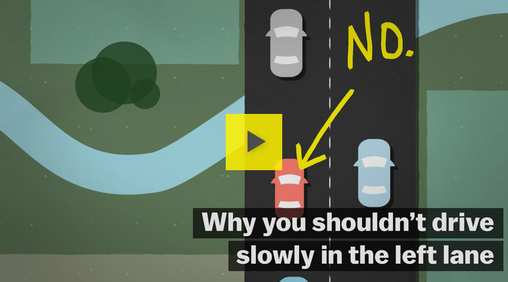 Why you shouldn't drive slow in the left lane