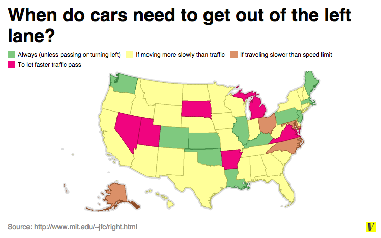 Left lane driving laws by state
